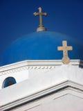 Ortodox kyrka i Mykonos Royaltyfri Fotografi