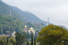 Ortodox kyrka i nya Athos Royaltyfria Foton