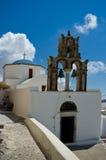 Ortodox kyrka i Pyrgos Arkivbilder