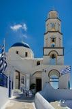Ortodox kyrka i Pyrgos Arkivfoton