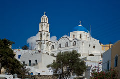 Ortodox kyrka i Pyrgos Arkivfoto
