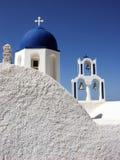 Ortodox kyrka i Santorini Royaltyfria Foton