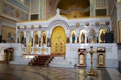 Ortodox kyrka inom Arkivfoto