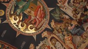Ortodox kyrka - inre målningar Royaltyfria Foton