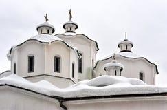 Ortodox kyrka och kloster Arkivfoton
