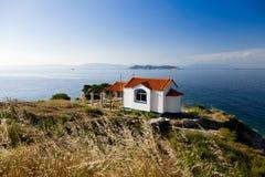 Ortodox kyrka på den Thassos ön, Grekland Royaltyfria Foton