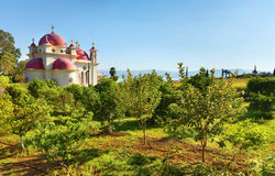 Ortodox kyrka på det Galilee havet, Israel Fotografering för Bildbyråer