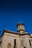 Ortodox kyrka under blå himmel Fotografering för Bildbyråer