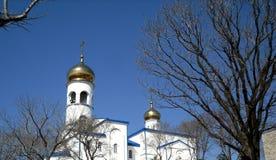 Ortodox kyrklig byggnad Arkivfoto