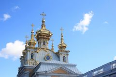 ortodox kyrklig kupol Royaltyfri Fotografi