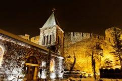 Ortodox kyrkliga Ruzica i den Kalemegdan fästningen Royaltyfri Foto