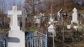 ortodox kyrkogård Fotografering för Bildbyråer