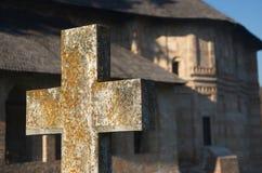 Ortodox kyrkogård Arkivbild