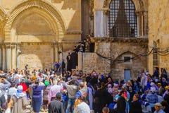 Ortodox långfredag 2016 i Jerusalem Royaltyfri Foto