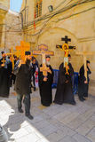 Ortodox långfredag 2016 i Jerusalem Arkivfoton