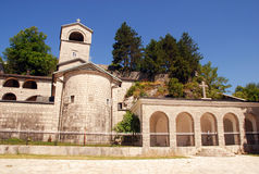 "Ortodox monastery in Cetinje, Montenegro. The monetary has a few holy relics: the particle from the ""True Cross of Christ"", the ""right hand of Saint John Stock Image"