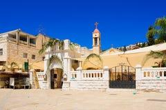 Ortodox palmsöndag i Nazareth royaltyfri fotografi