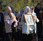 ortodox procession för kors Royaltyfri Bild