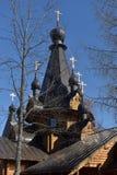 Ortodox rysk träkyrka Arkivbild