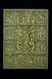 Ortodox symbol som snidas från det kolossala betet Royaltyfri Fotografi