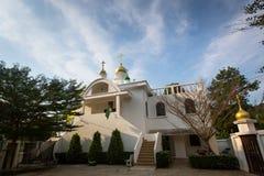 Ortodoxa Christian Church - tempel av Sergius Radonezh i Koh Chang Royaltyfria Foton