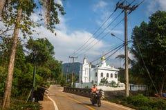 Ortodoxa Christian Church - tempel av Sergius Radonezh i Koh Chang Arkivfoto