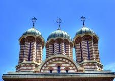 ortodoxa domkyrkakupoler royaltyfri foto