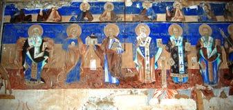 Ortodoxa frescoes royaltyfria bilder