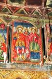 Ortodoxa frescoes arkivfoto