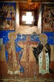 Ortodoxa frescoes royaltyfri fotografi