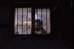 Ortodoxa jewbelysningstearinljus av hanukia under den judiska ferien av chanukaen Royaltyfria Foton
