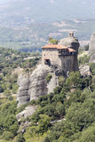 Ortodoxa kloster av Meteora Grekland Arkivbilder