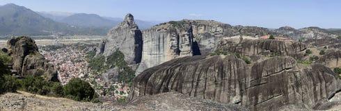Ortodoxa kloster av Meteora Grekland Arkivfoton