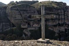Ortodoxa kloster Meteora, Kalambaka Grekland Fotografering för Bildbyråer