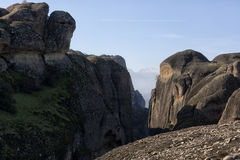 Ortodoxa kloster Meteora, Kalambaka Grekland Arkivfoto