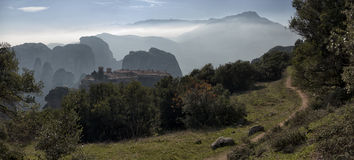 Ortodoxa kloster Meteora, Kalambaka Grekland Arkivbilder