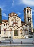 ortodoxa kyrkliga greece Royaltyfri Bild
