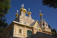 ortodoxa kyrkliga jerusalem Arkivfoton