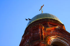 ortodoxal tempel för kristen kupol fotografering för bildbyråer