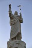 Ortodoxia del cristianismo de la religión de la cruz de Jesús de la estatua fotos de archivo libres de regalías