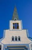 Ortodoxkerk onder blauwe hemel Stock Foto