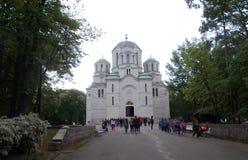 Ortodoxkerk in Servië Stock Foto