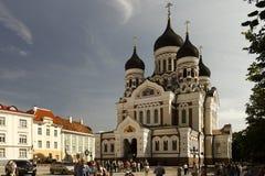 Ortodoxkyrka i Tallin. arkivbild
