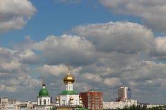 Ortodoxkyrka under konstruktion Arkivbild
