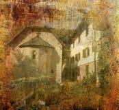 ortodoxt foto för bakgrundsgrungekloster Arkivbild