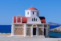 Ortodoxt kapell i Kreta arkivbilder