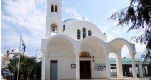 Ortodoxt kapell, Paros ö, Grekland Royaltyfria Foton