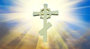 ortodoxt kors Arkivfoto