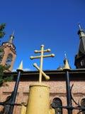 ortodoxt kors Arkivbild