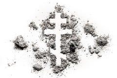 Ortodoxt kristenkors eller korssymbol royaltyfri fotografi